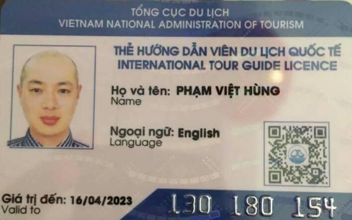 Kết quả hình ảnh cho thẻ hướng dẫn viên du lịch